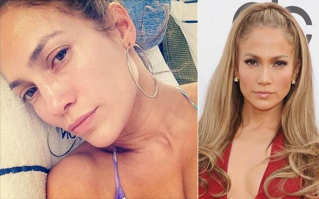 Безупречная во всём, кроме выбора мужчин, Дженнифер Лопез выложила фотографию с хэштегом #realface
