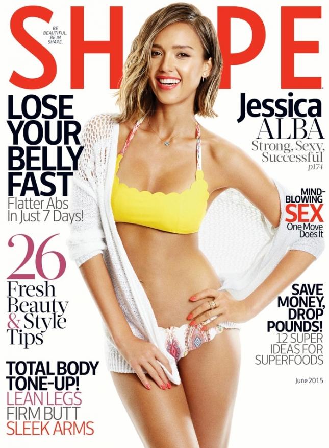 Джессика Альба на обложке Shape, июнь 2015