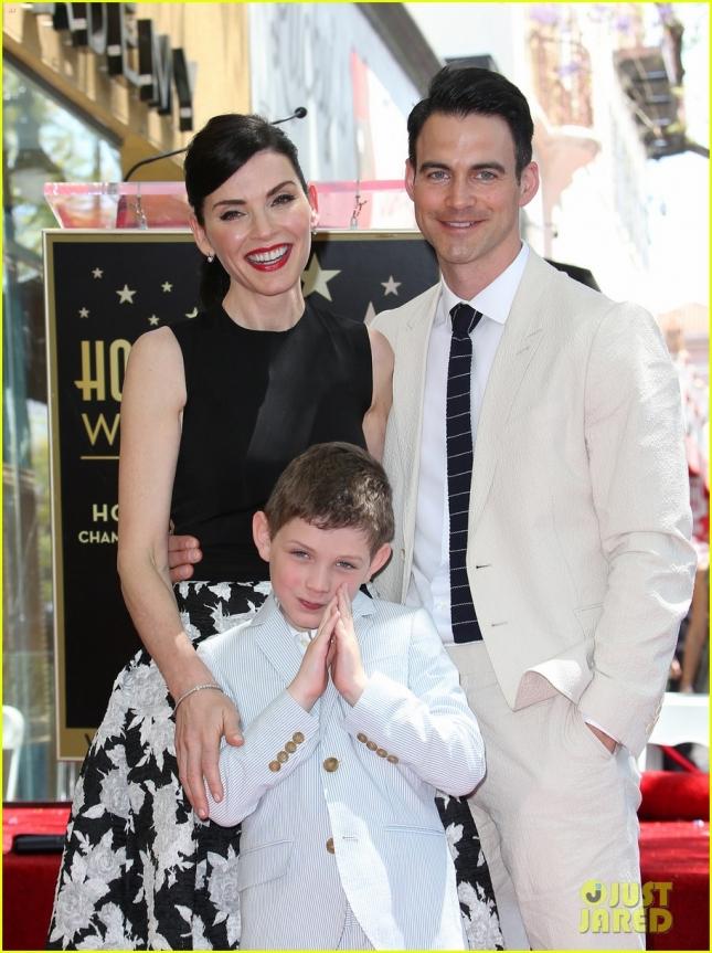 Джулианна Маргулис с семьей