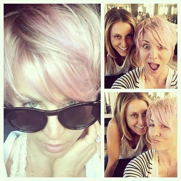 kaley-cuoco-pink-hair