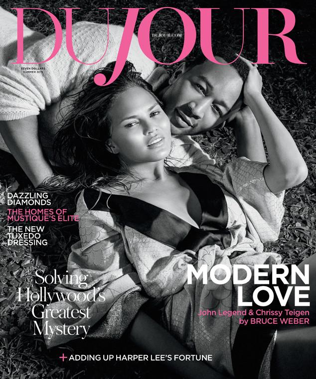 Крисси Тейген и Джон Ледженд на обложке  DuJour Magazine