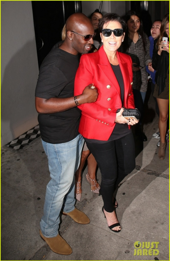 Kris Jenner and boyfriend Corey Gamble seen out for dinner with Kyle Richards in West Hollywood