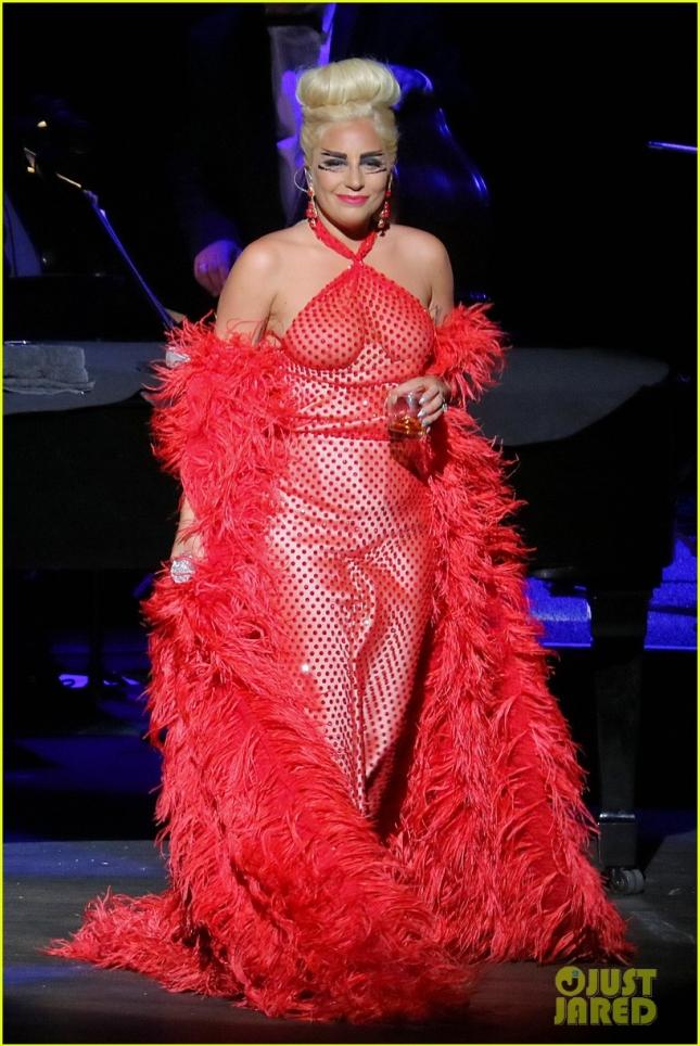 """Леди Гага во время тура """"Cheek to Cheek"""" немного выпила и немного оголилась"""