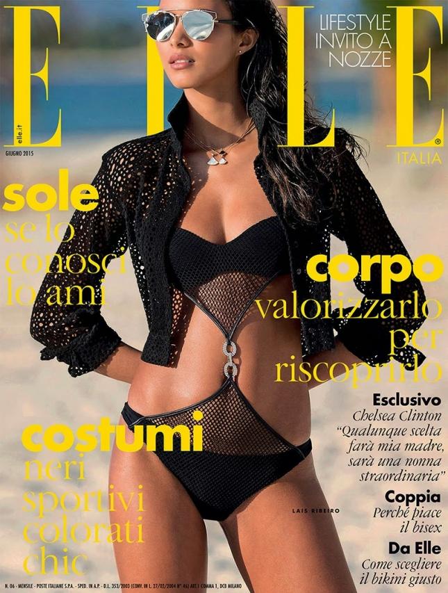 Лэйс Рибейро на обложке Elle Италия, июнь 2015