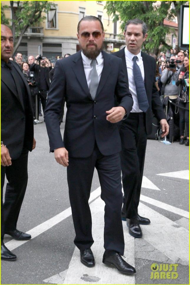 """Леонардо ДиКаприо посетил мероприятие, организованное Giorgio Armani. В западной прессе Лео теперь ласково называют """"человеком-колобком"""""""