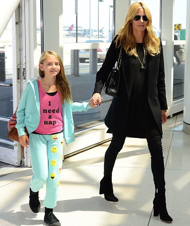 Хайди Клум с дочкой