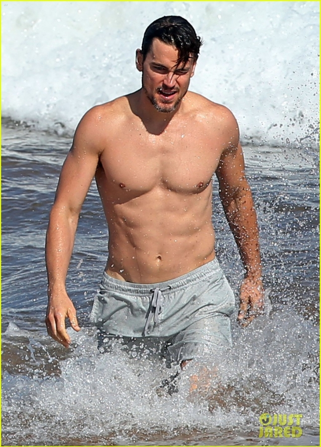 Exclusive... Matt Bomer Enjoys A Day On The Beach In Maui
