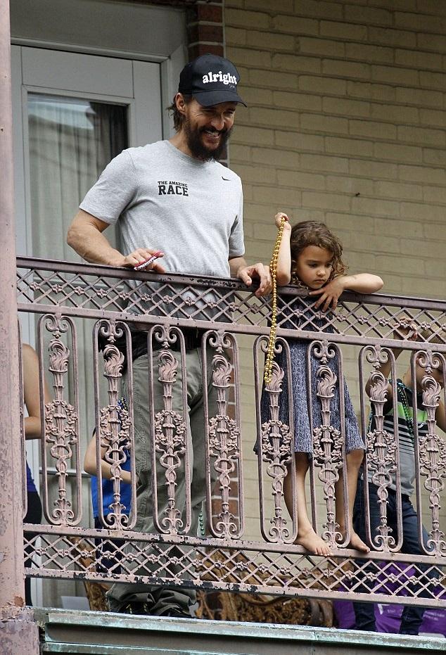 Мэттью МакКонахи с дочкой