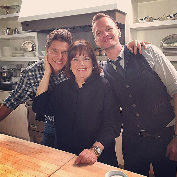 Neil Patrick Harris and his husband cooked with Ina Garten
