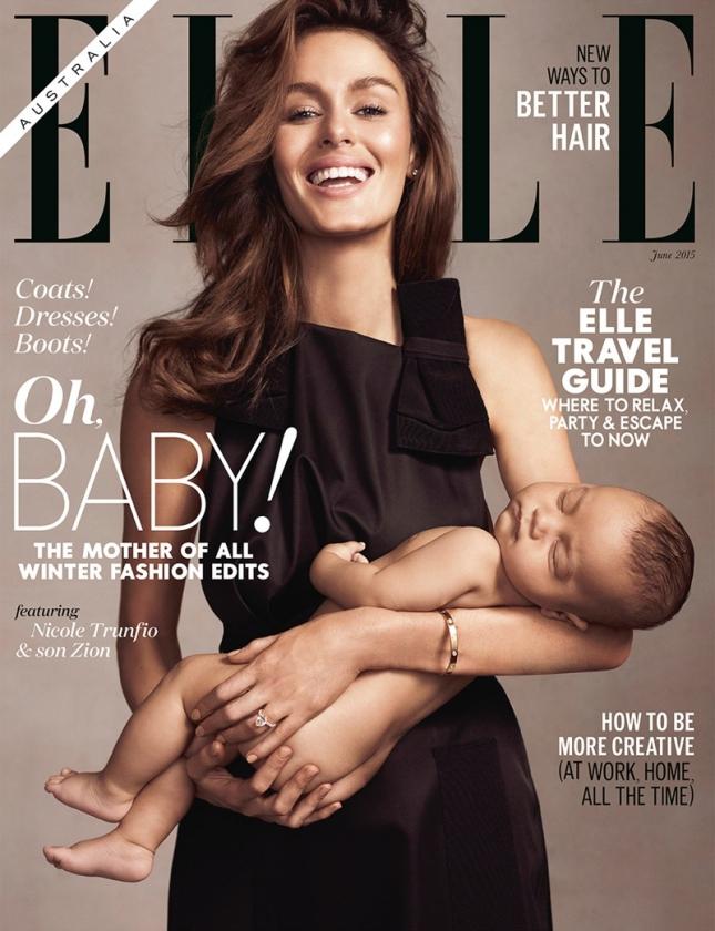 Николь Трунфио и Зион на обложке Elle Австралия, июнь 2015