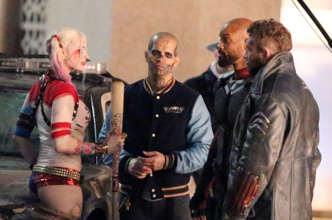 EXCLUSIVE: Will Smith seen picking up Margot Robbie while filming 'Suicide Squad' in full costume