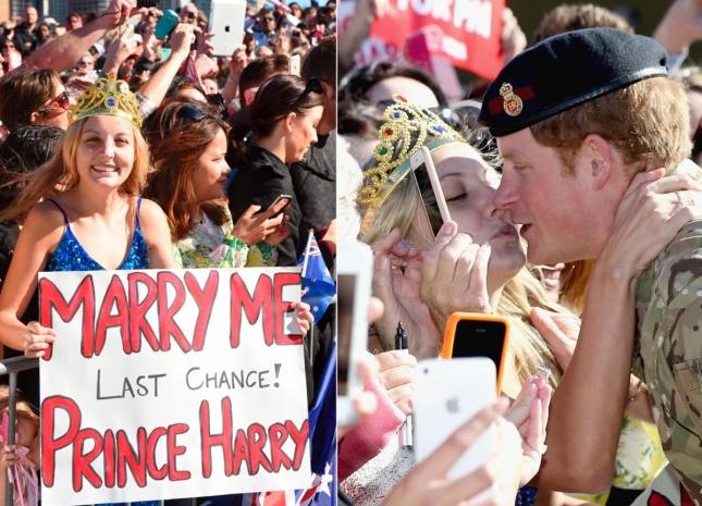 Не совсем пара, но всё же: свой последний шанс выйти замуж за принца Гарри так и не использовала его неистовая поклонница. Ну она хотя бы попыталась...