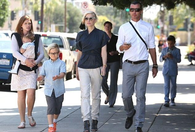 Гвен Стефани и Гэвин Россдэйл с сыновьями