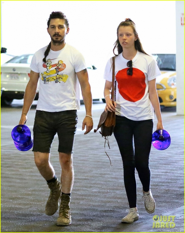 Exclusive... Shia LaBeouf & Mia Goth Head To A Workout