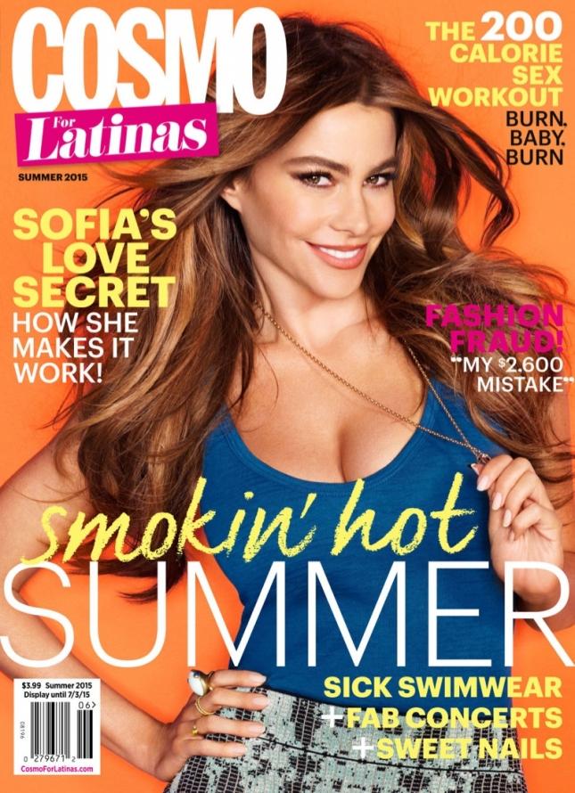 София Вергара на обложке Cosmopolitan for Latinas, лето 2015