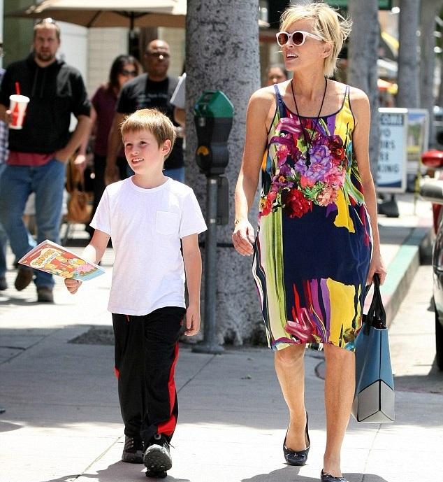 Шарон Стоун с сыном