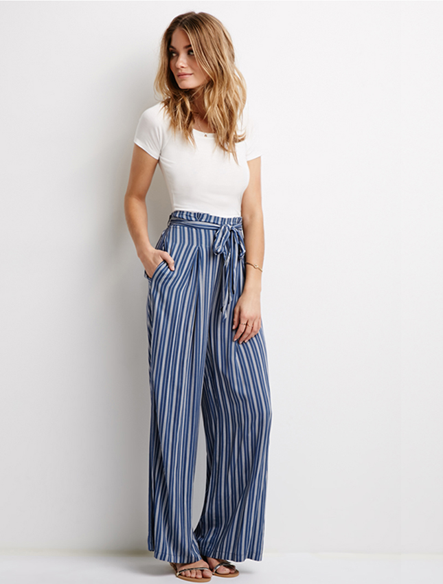 striped-high-waist-pants