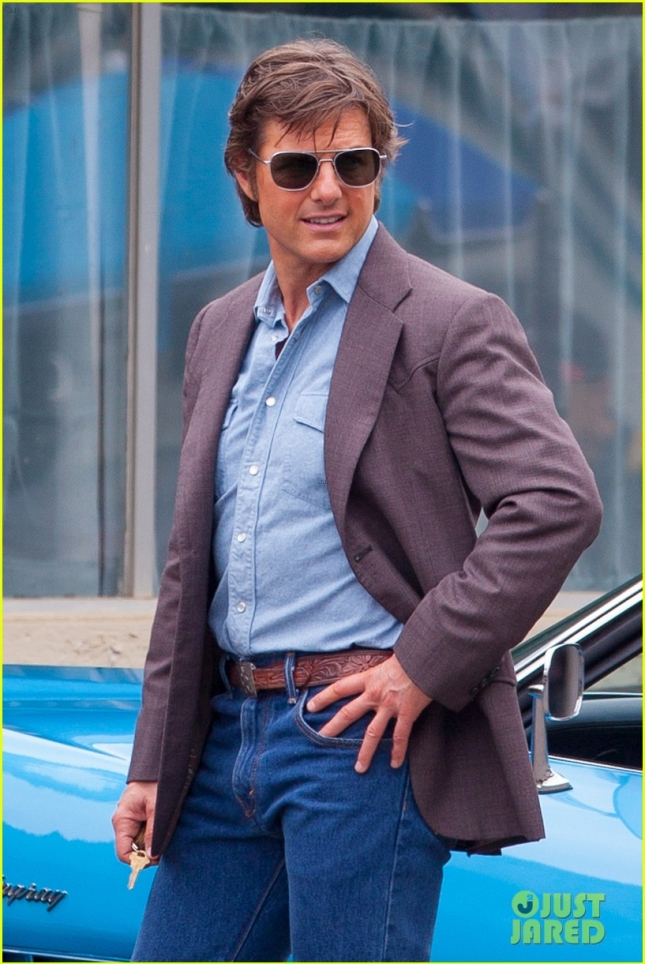 Three-time Oscar nominee Tom Cruise looks fit and fierce on set