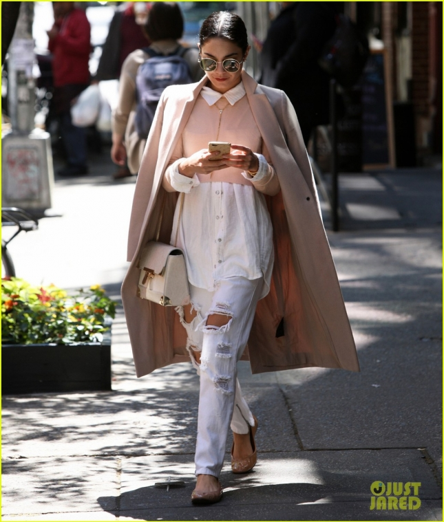 Vanessa Hudgens seen out in SoHo, NYC