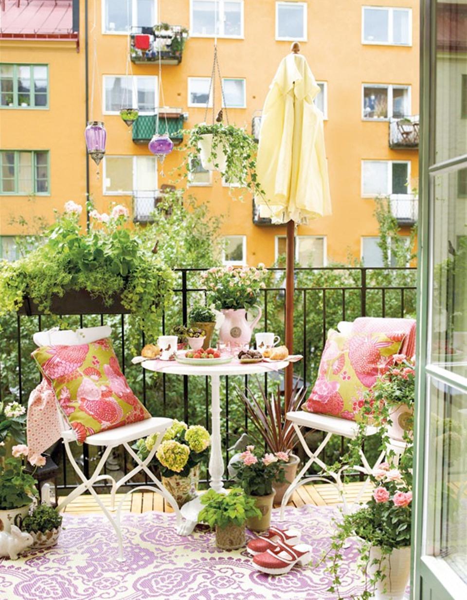 Как сделать летний мини-сад - цветущие балконы и террасы - д.
