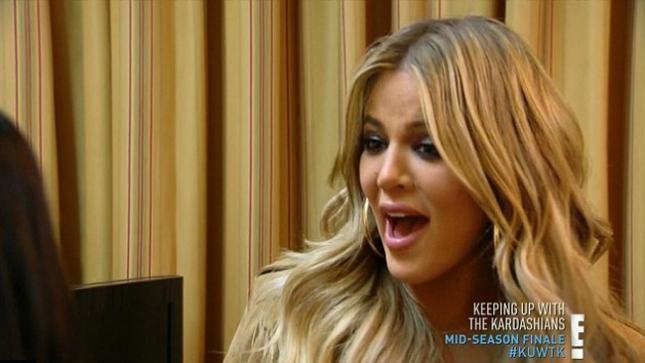 Клоя в новом выпуске реалити-шоу Keeping Up With the Kardashians