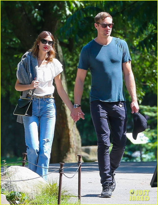 Exclusive... Alexander Skarsgard & Alexa Chung Enjoy A Romantic Day In NYC - NO WEB USE
