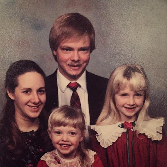 Семейное фото Аманды Сайфред