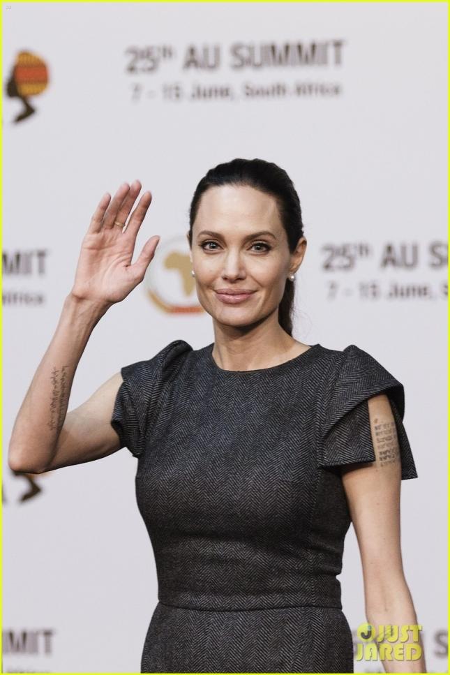 Анджелина Джоли прилетела на саммит в Южной Африке 12 июня