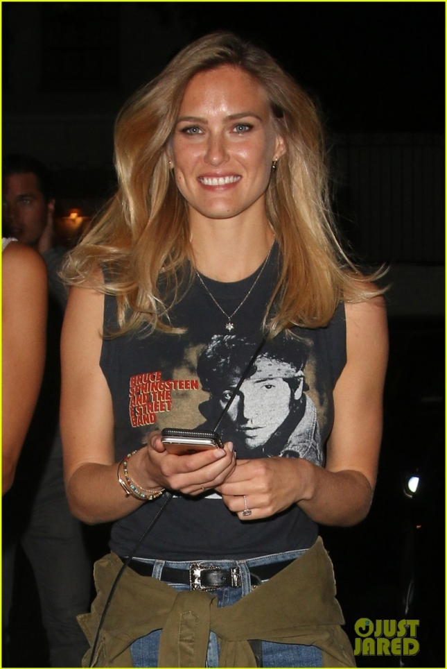 Bar Refaeli heads out of the U2 concert after party at Chateau Marmont