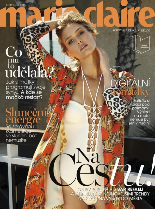 Бар Рафаэли на обложке Marie Claire Чехия, июль 2015