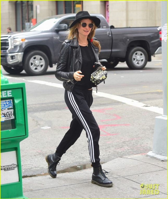 Behati Prinsloo is all smiles after a day of pampering at the spa in NYC