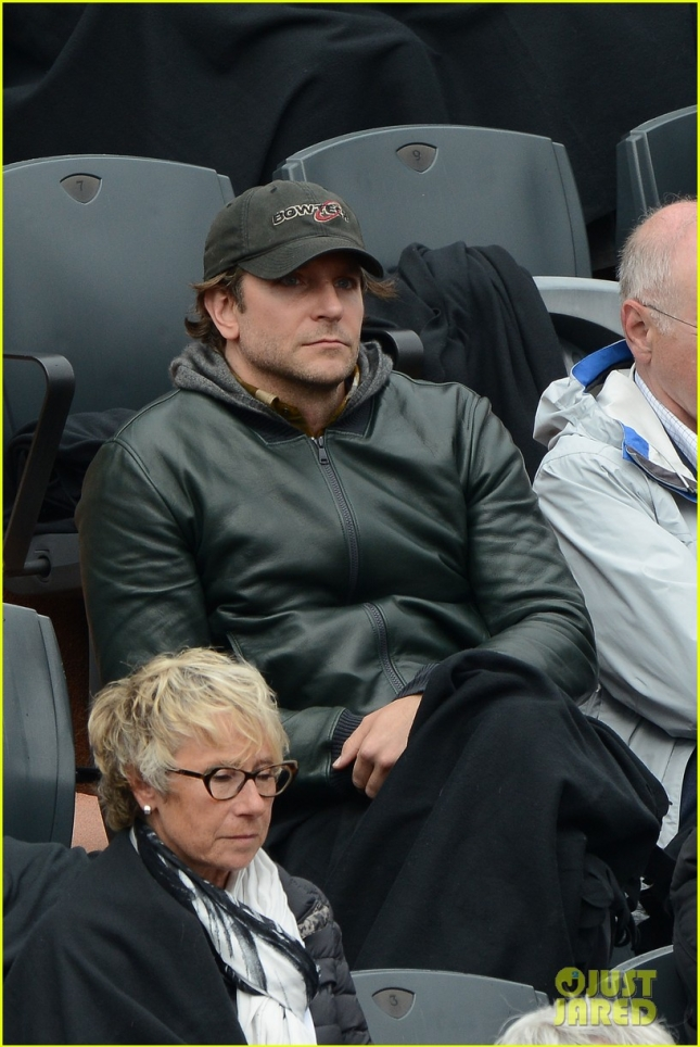 Bradley Cooper Enjoys a Match at the French Open