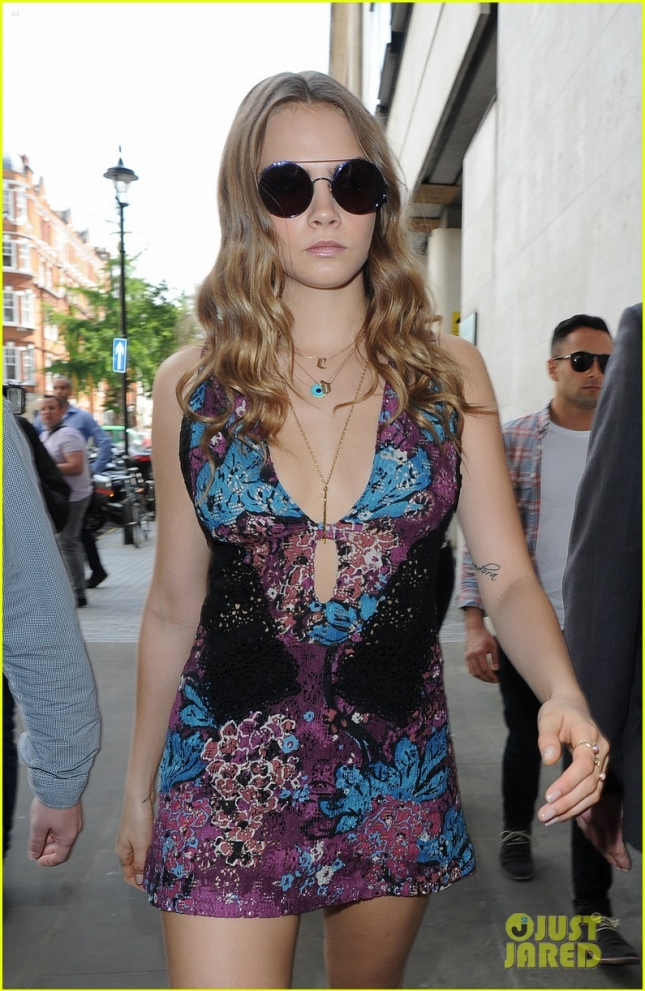Cara Delevingne out and about promoting her new movie 'Paper Towns'