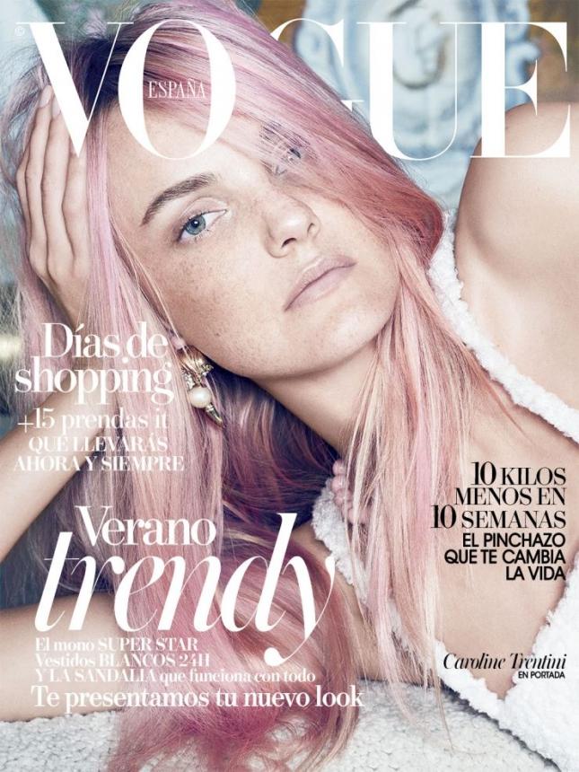 Кэролайн Трентини на обложке  Vogue Испания, июль 2015