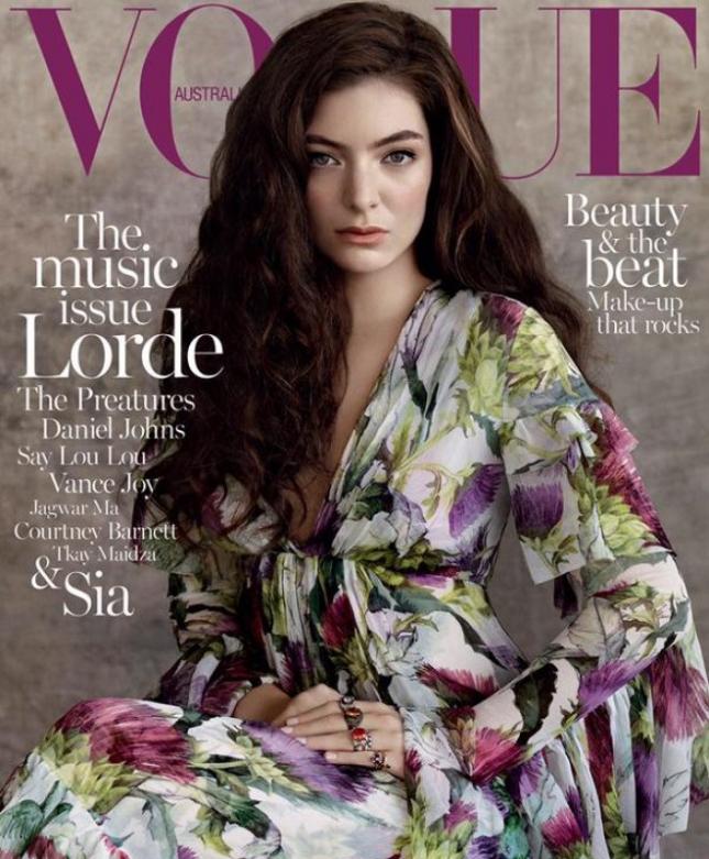 Лорд на обложке Vogue Австралия, июль 2015