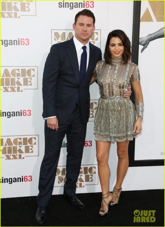 """Ченнинг Татум и его супруга Дженна на голливудской премьере второй части """"Супер Майка"""""""