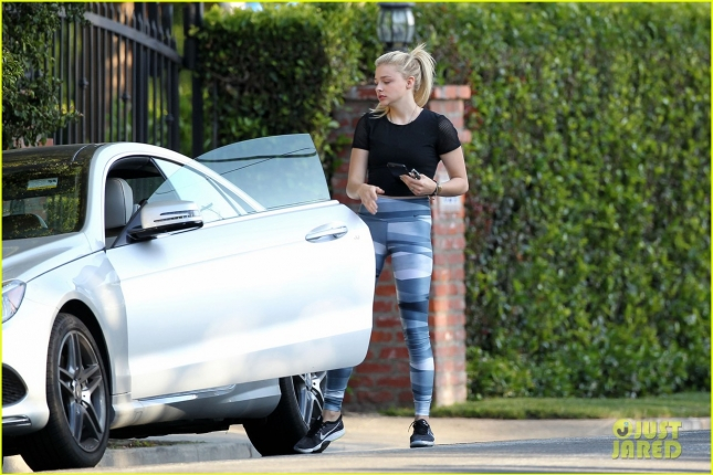 EXCLUSIVE: Chloe Moretz seen with a friend walking back to her car in Brentwood