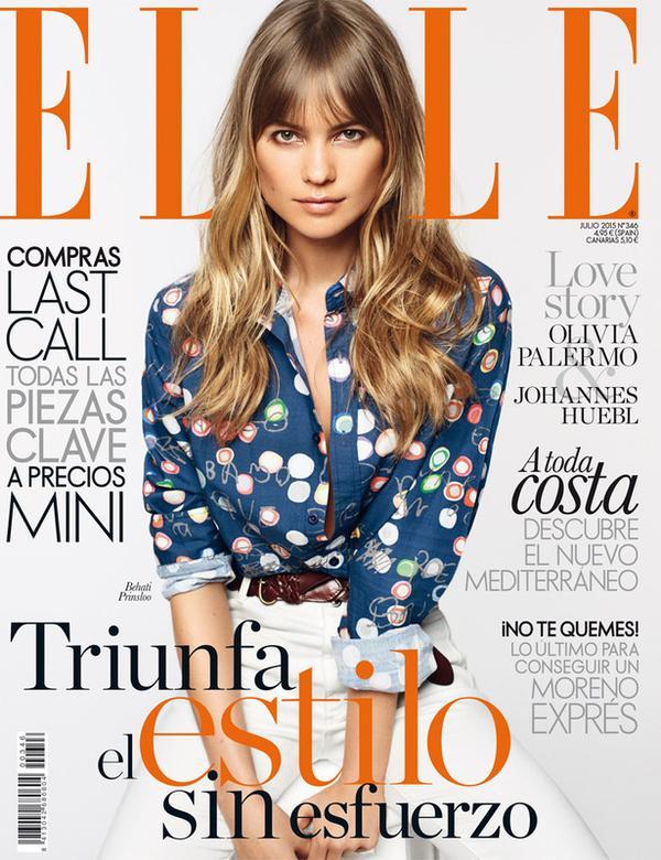 Бехати Принслу на обложке Elle Испания, июль 2015