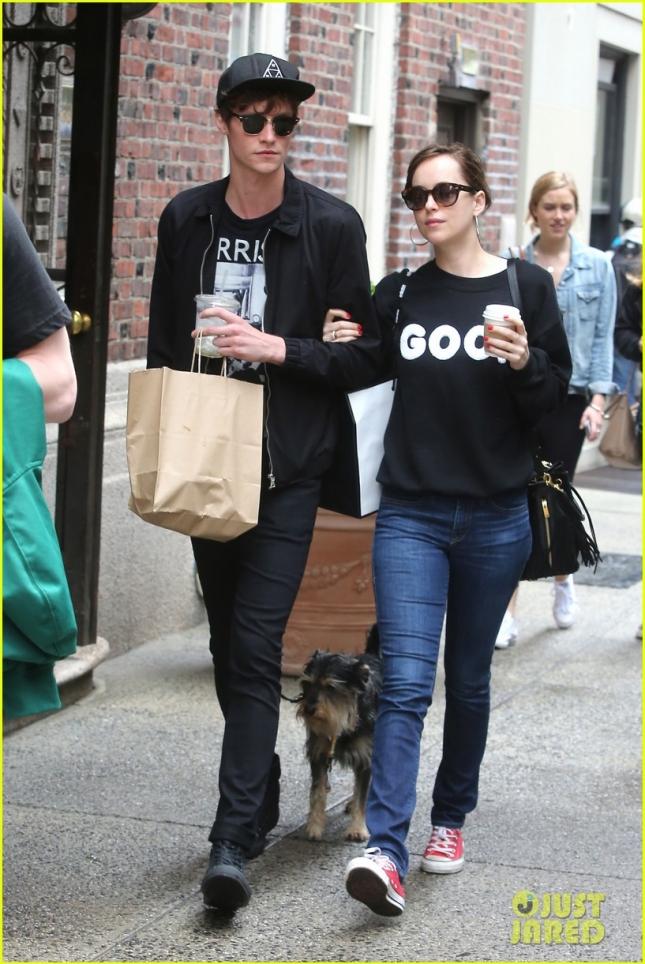 Matthew Hitt and Dakota Johnson are all loved up in NYC