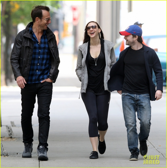 Will Arnett, Daniel Radcliffe with his girlfriend Erin Darke seen out and about in the West Village, NYC