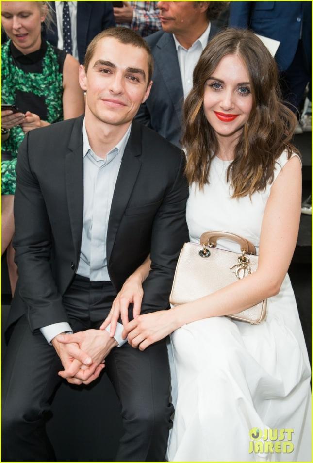 Дэйв Франко со своей девушкой Элисон на шоу Dior Homme