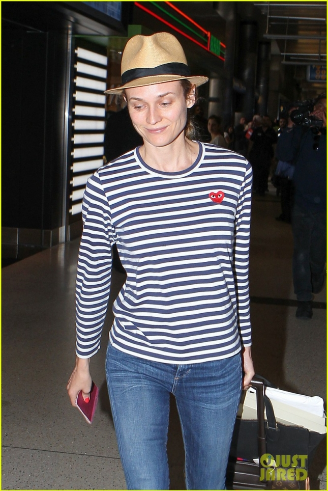 Diane Kruger touches down at LAX **USA ONLY**