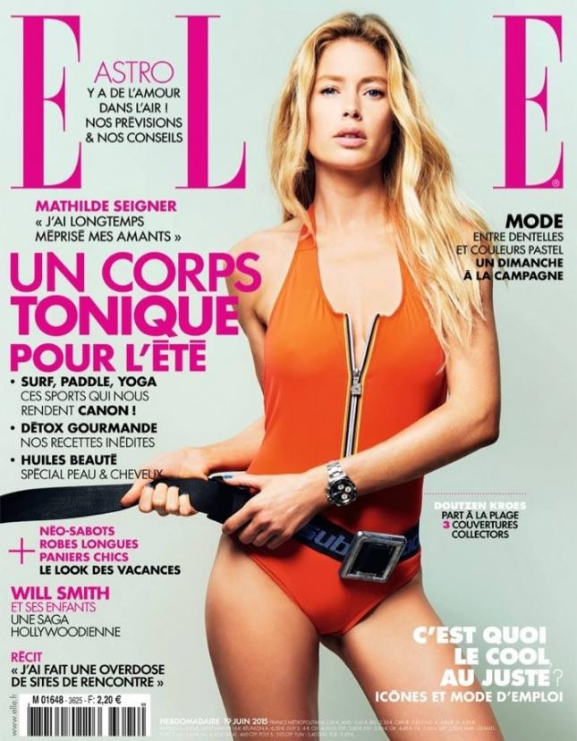 Даутцен Крез на обложке Elle Франция, июнь 2015