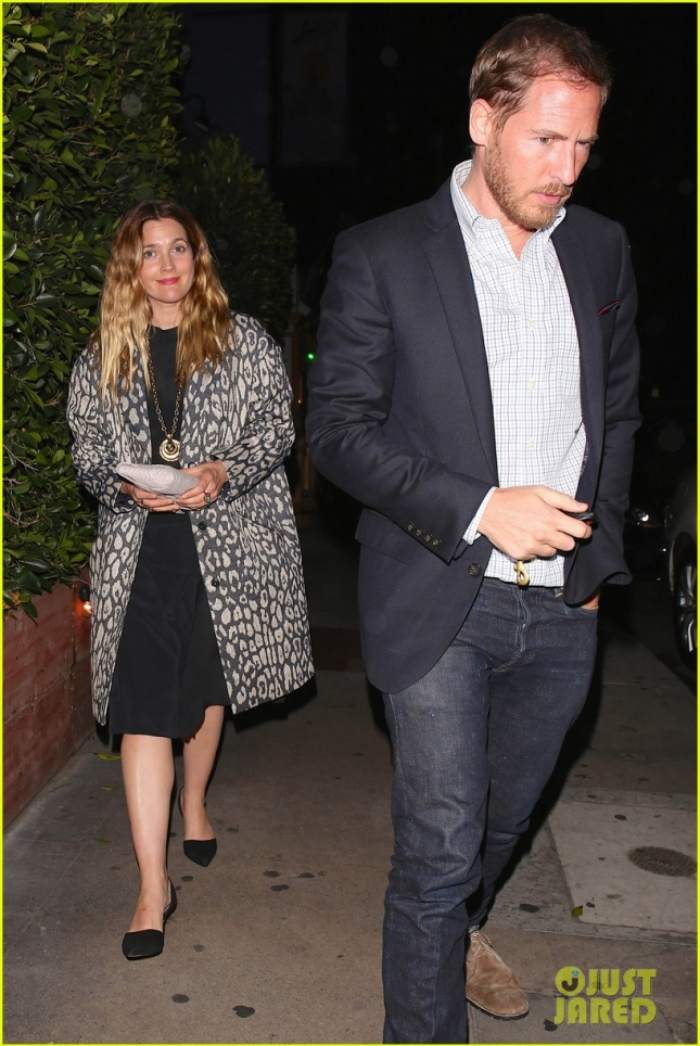 Drew Barrymore and husband Will Kopelman leave a date night at G. Baldi