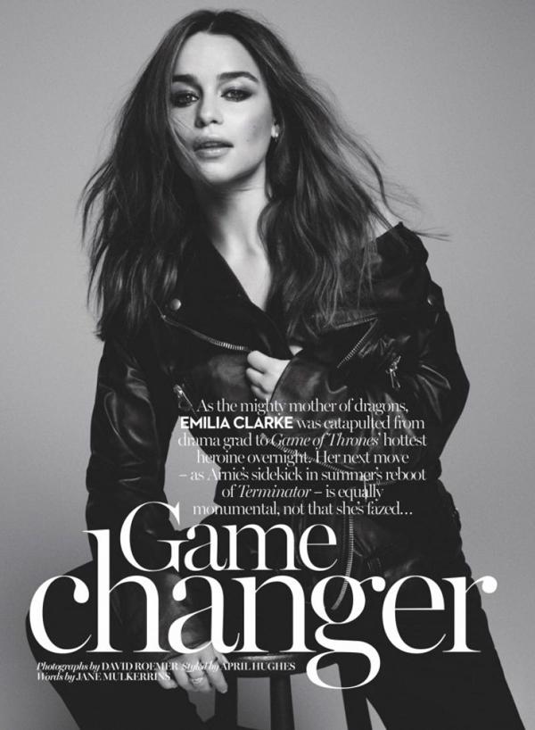 Эмилия Кларк для  Marie Claire UK, июль 2015