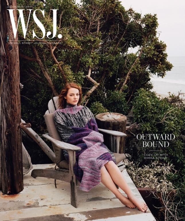 Эмма Стоун на обложке WSJ