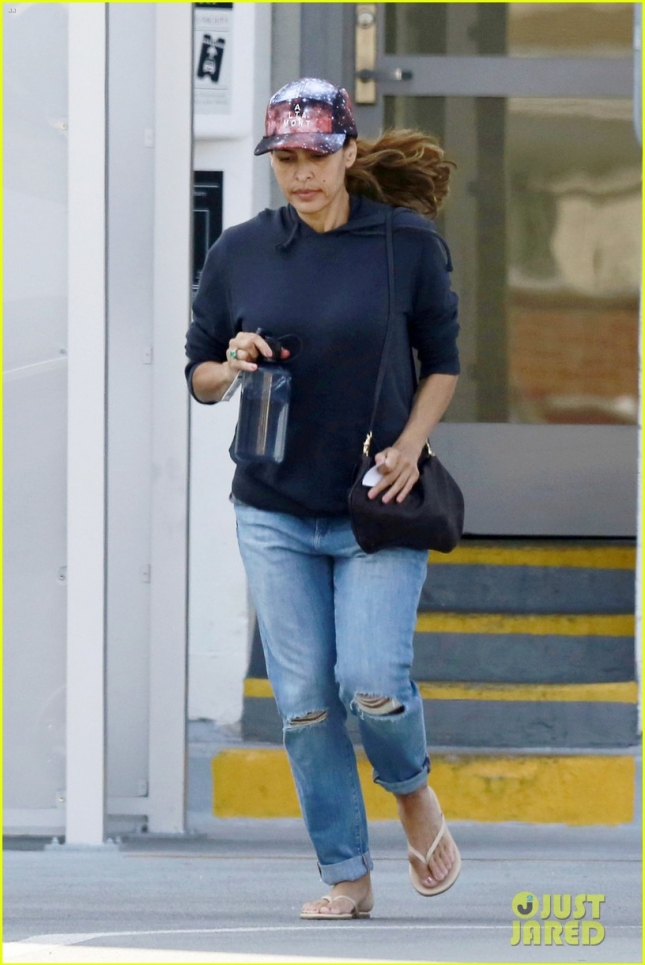 EXCLUSIVE: Make-up free Eva Mendes seen leaving a medical building in Beverly Hills, CA