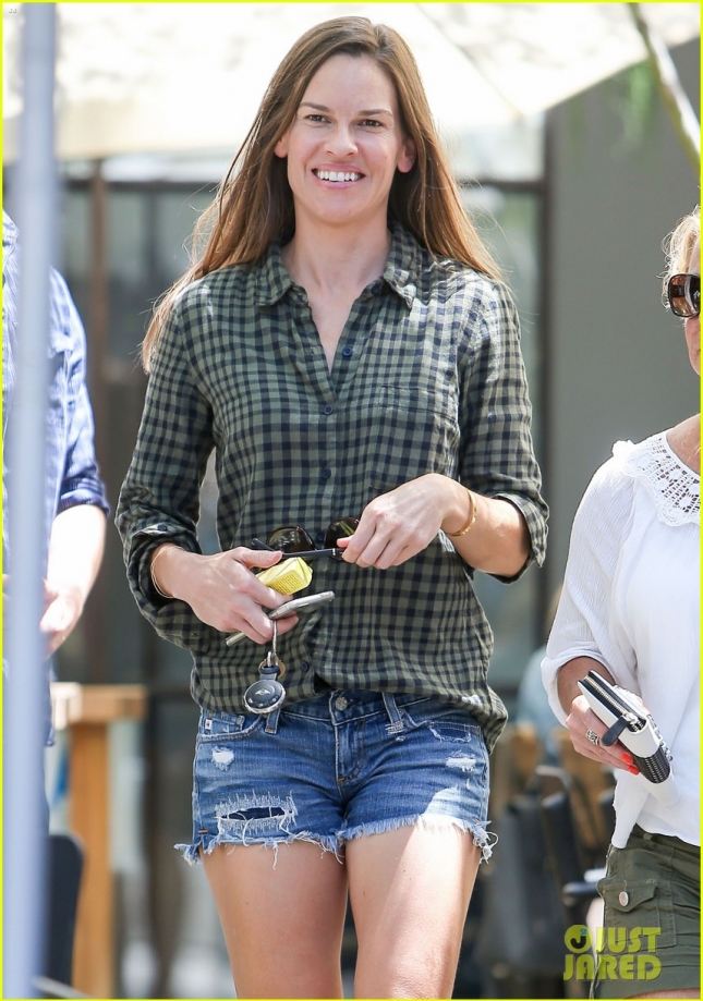 Hilary Swank Shows Off Her Legs In West Hollywood