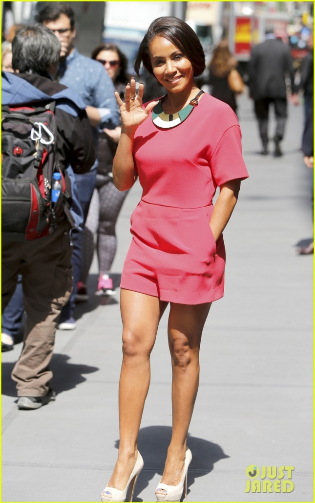 Jada Pinkett Smith is looking ready for summer out in New York **USA ONLY**