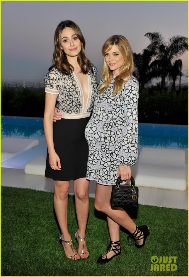 Пути Джейми Кинг и Эмми Россум пересеклись на Vogue 120 Fetes LA.